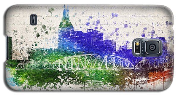 Nashville In Color Galaxy S5 Case by Aged Pixel