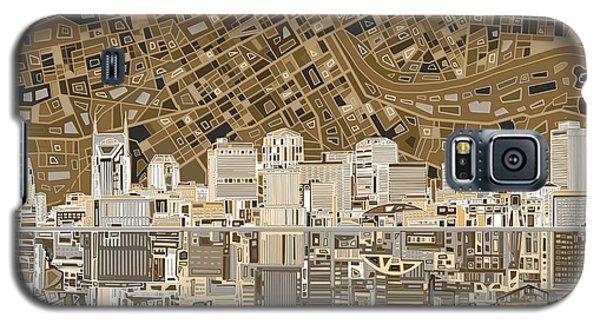 Nashville Skyline Abstract 2 Galaxy S5 Case by Bekim Art