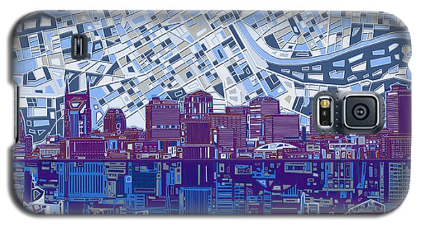 Nashville Skyline Abstract 8 Galaxy S5 Case
