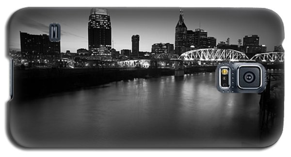 Nashville Skyline Black And White Galaxy S5 Case