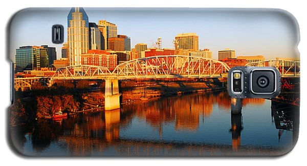 Galaxy S5 Case featuring the photograph Nashville Skyline by James Kirkikis