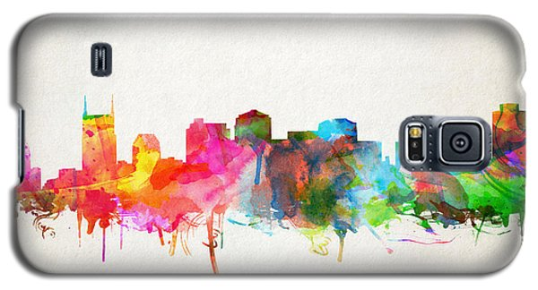 Nashville Skyline Watercolor 9 Galaxy S5 Case
