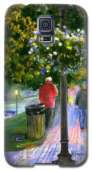 Galaxy S5 Case featuring the painting Natchitoches Front Street Cane River by Lenora  De Lude