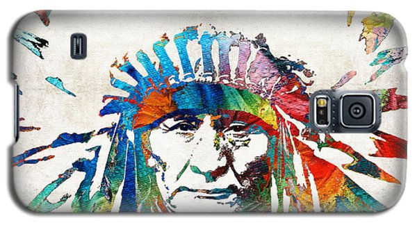 Bull Galaxy S5 Case - Native American Art - Chief - By Sharon Cummings by Sharon Cummings