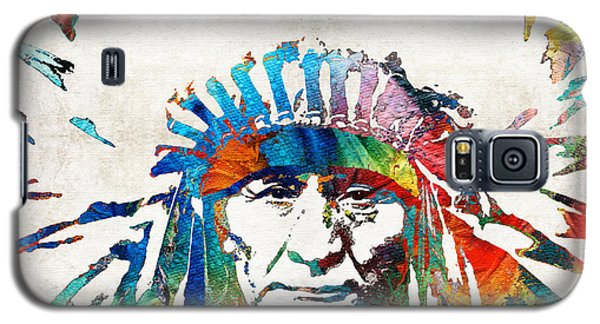 Native American Art - Chief - By Sharon Cummings Galaxy S5 Case