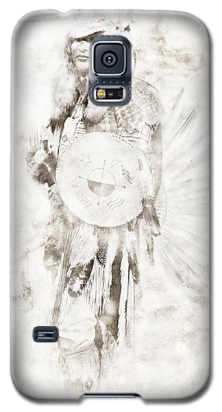Galaxy S5 Case featuring the digital art Native American by Erika Weber