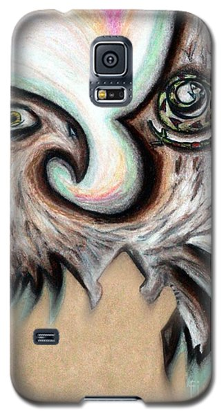 Galaxy S5 Case featuring the painting Native American Eye Of The Eagle 1 by Ayasha Loya