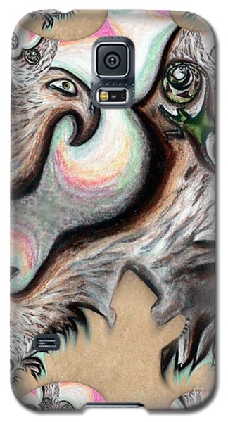 Galaxy S5 Case featuring the painting Native American Eye Of The Eagle 2 by Ayasha Loya