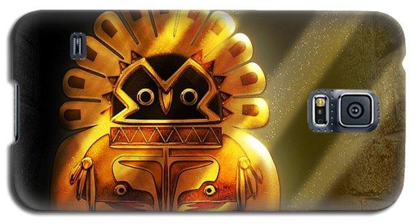 Native American Hawk Spirit Gold Idol Galaxy S5 Case