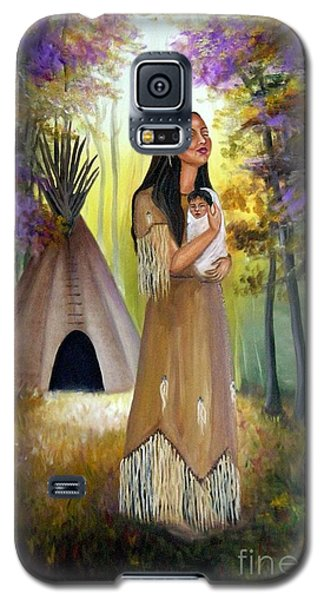 Native American Mother And Child Galaxy S5 Case