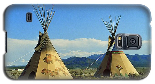 Native American Teepees  Galaxy S5 Case by Dora Sofia Caputo Photographic Art and Design