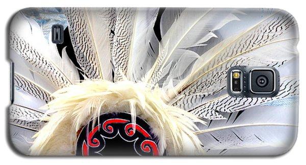 Native American White Feathers Headdress Galaxy S5 Case