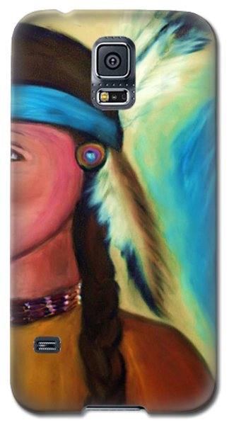Galaxy S5 Case featuring the painting Native American Woman 1 by Ayasha Loya