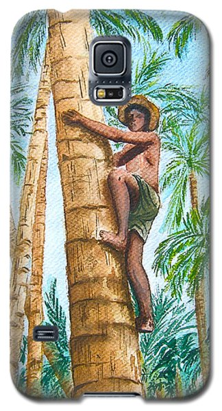 Native Climbing Palm Tree Galaxy S5 Case