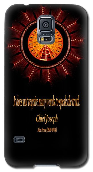 Native Truth - Chief Joseph Galaxy S5 Case by Lea Wiggins