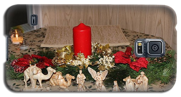 Galaxy S5 Case featuring the photograph Nativity Scene by John Mathews