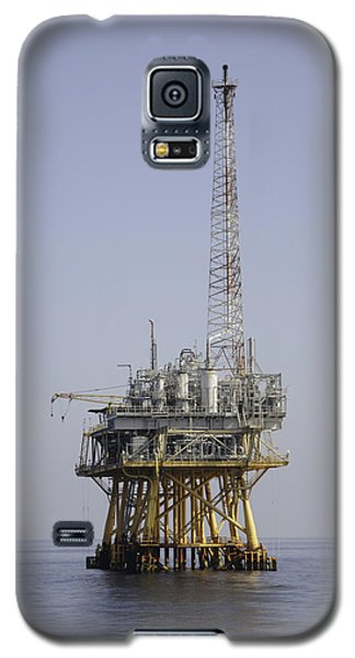 Galaxy S5 Case featuring the photograph Natural Gas Platform by Bradford Martin