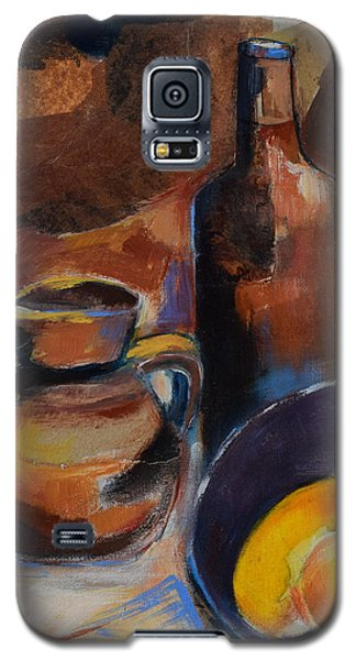 Galaxy S5 Case featuring the painting Still Life Sepia by Elise Palmigiani