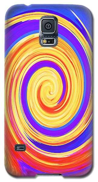Galaxy S5 Case featuring the painting Nature Twirling by Margaret Saheed