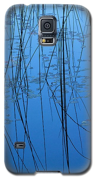 Galaxy S5 Case featuring the photograph Nature's Abstract In Blue 2 by Peggy Collins