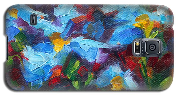 Nature's Palette - Himalayan Blue Poppy Oil Painting Meconopsis Betonicifoliae Galaxy S5 Case