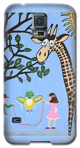 Galaxy S5 Case featuring the painting Nature's Playground by Kathleen Sartoris