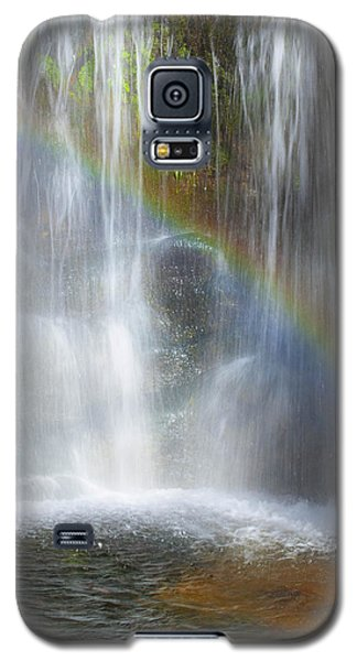 Galaxy S5 Case featuring the photograph Natures Rainbow Falls by Jerry Cowart