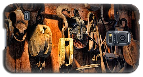 Nautical - Boat - Block And Tackle  Galaxy S5 Case by Paul Ward
