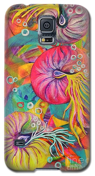 Galaxy S5 Case featuring the painting Nautilus by Lyn Olsen