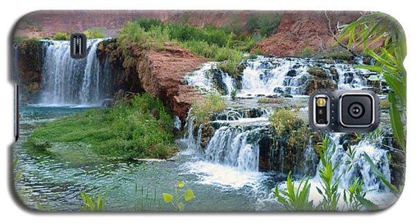 Galaxy S5 Case featuring the photograph Navajo Falls by Alan Socolik