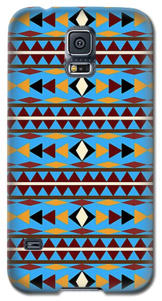 Navajo Blue Pattern Galaxy S5 Case by Christina Rollo