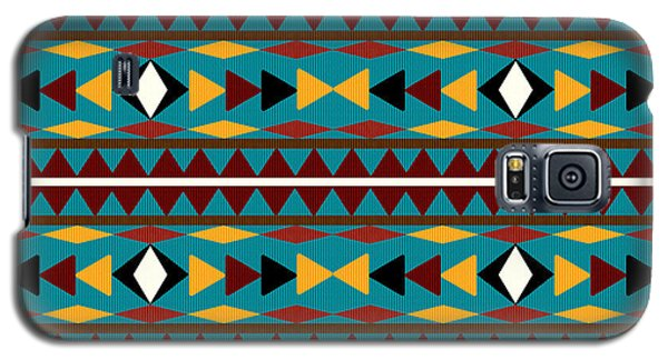Navajo Teal Pattern Galaxy S5 Case