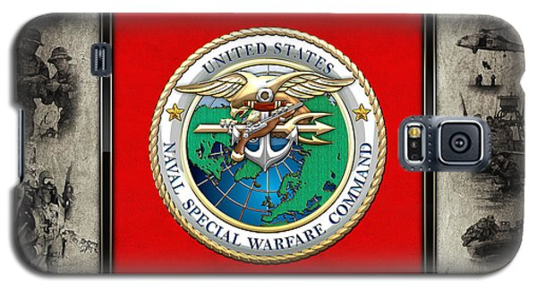 Naval Special Warfare Command - N S W C - Emblem  Over Navy Seals Collage Galaxy S5 Case