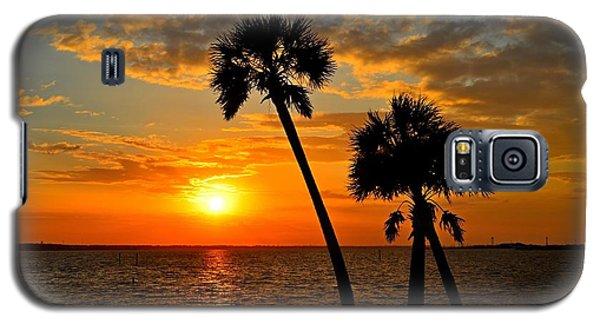 Navarre Beach Bridge Sunrise Palms Galaxy S5 Case