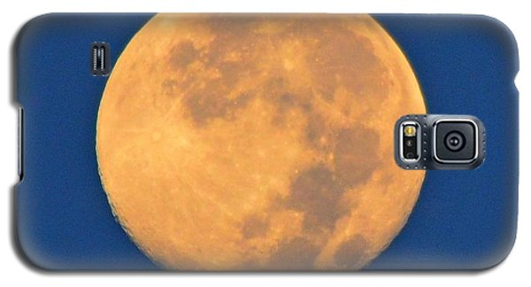 Galaxy S5 Case featuring the photograph Navarre Beach Full Moon At Sunrise by Jeff at JSJ Photography