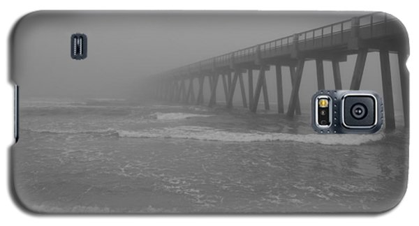 Navarre Pier Disappears In The Bw Fog Galaxy S5 Case by Jeff at JSJ Photography