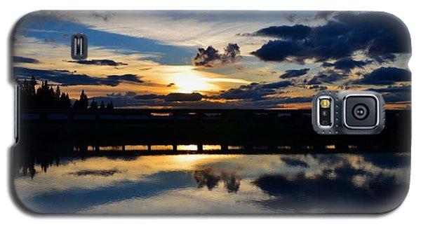 Navy Blue Sunset Galaxy S5 Case