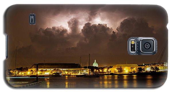 Navy Lightning Galaxy S5 Case