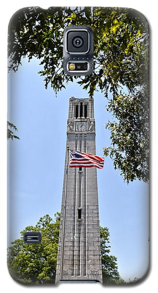 Nc State Memorial Bell Tower And Us Flag Galaxy S5 Case