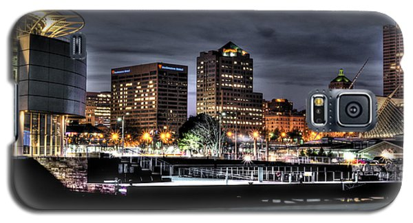 Galaxy S5 Case featuring the photograph Ncaa In Lights by Deborah Klubertanz