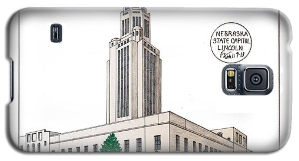 Galaxy S5 Case featuring the drawing Nebraska State Capitol by Frederic Kohli