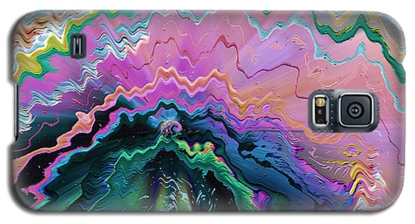 Galaxy S5 Case featuring the mixed media Nebula by Carl Hunter