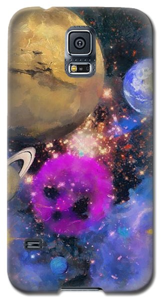 Galaxy S5 Case featuring the painting Nebula by Wayne Pascall