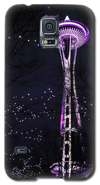 Needle In Purple Galaxy S5 Case by Sonya Lang