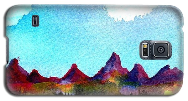 Galaxy S5 Case featuring the painting Needles Mountains by Anne Duke