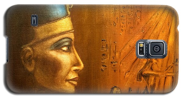 Galaxy S5 Case featuring the painting Nefertiti by Arturas Slapsys