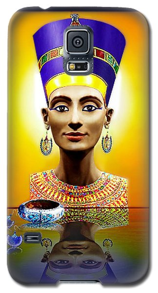 Galaxy S5 Case featuring the digital art Nefertiti  The  Beautiful by Hartmut Jager