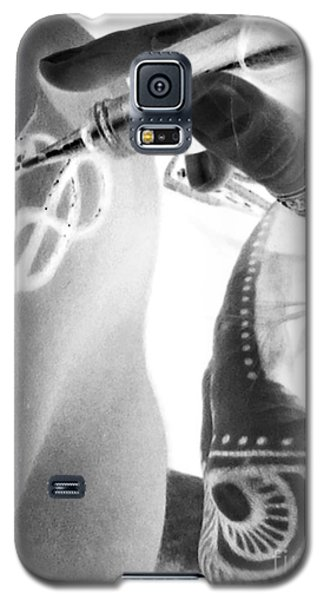 Galaxy S5 Case featuring the digital art Negative Henna Hands II by Jennie Breeze