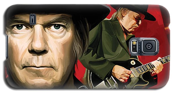 Neil Young Galaxy S5 Case - Neil Young Artwork by Sheraz A