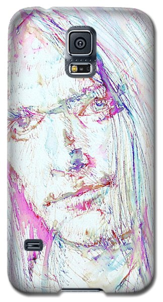 Neil Young Galaxy S5 Case - Neil Young - Colored Pens Portrait by Fabrizio Cassetta